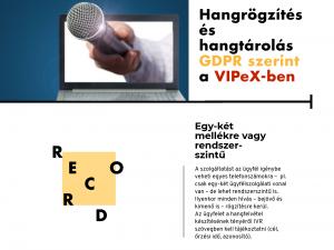 hangrögzítés, hangtárolás VIPeX-ben